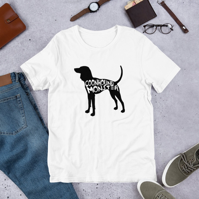 Coonhound Monster Short Sleeve Crew Neck T-Shirt  Coonhound image 0