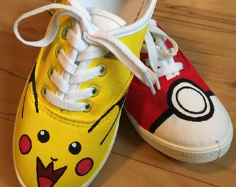 Pikachu and Poke ball sneakers!
