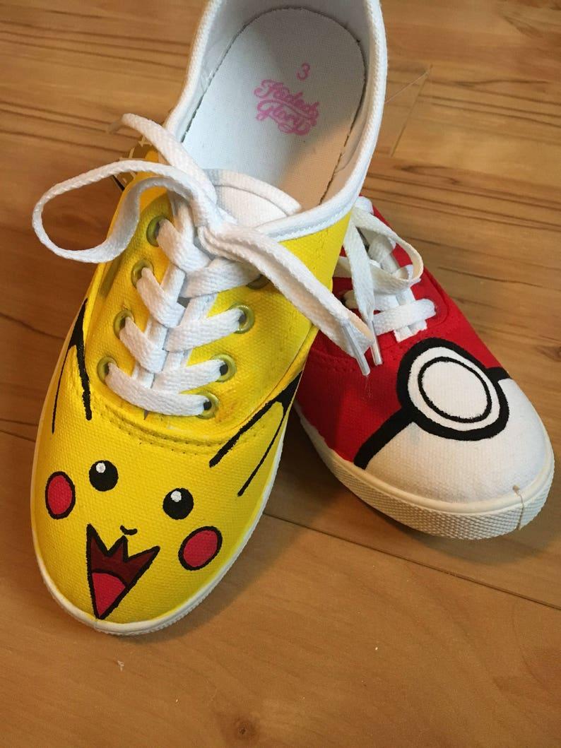 Pikachu and Poke ball sneakers!