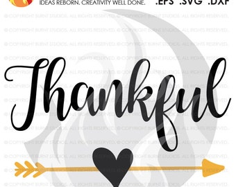 Digital File, Thankful, Thanksgiving, Heart and Arrow, Bohemian, Turkey, Holiday, Shirt Design, Decal Design, Svg, Png, Dxf, Eps file