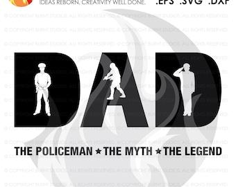 Digital File, Fathers Day Policeman Gift, Policeman, Dad, Policeman SVG, Police, Law Enforcement SVG, Policemen SVG Decal Art