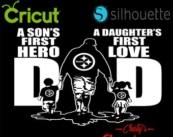 aad228cc Pittsburgh Steelers Dad A sons first hero a daughters first love T-shirt  Design