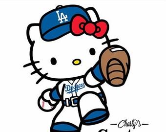 Hello Kitty Dodger SvgHello T ShirtHello DesignHello Cut FileHello Cricut