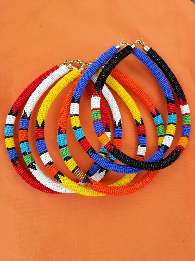 Free beaded choker set 6 choker set,choker jewelry set,orange beaded choker,beaded choker jewelry maasai black choker,beaded red jewelry