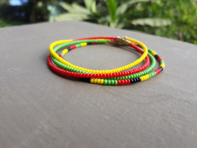 Rasta colors ankle bracelets,Ankle bracelets set of 4,layered anklets,ankle bracelets,ankle bracelets for women,women bead anklet,bead ankle