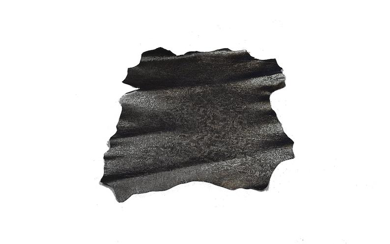 fancy leather Silver Black lambskin printed fish