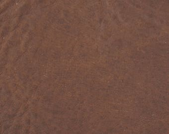 Coupon of leather dark brown genuine cowhide