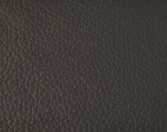Coupon of black cowhide leather