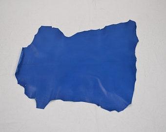 King blue leather lambskin