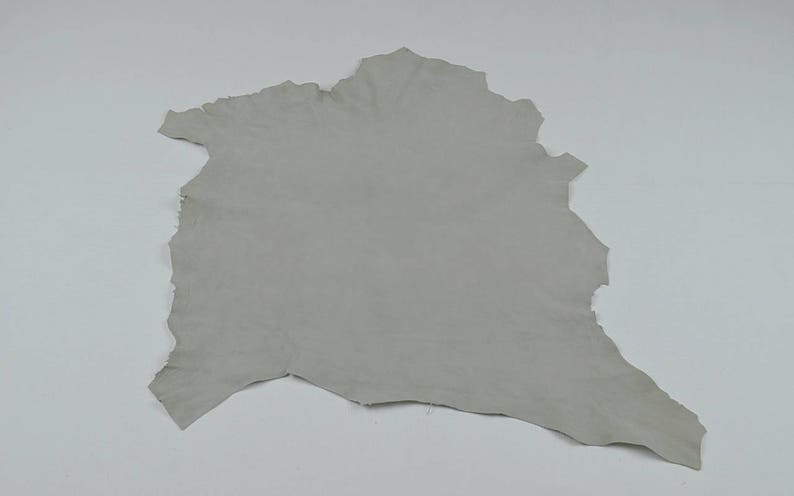 suede leather Light gray velvet lambskin