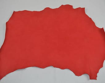 Red dipped sheep leather skin
