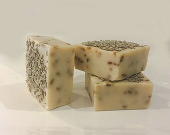 Goat's Milk, Lavender & Oatmeal Soap - Natural Soap, Handmade Soap, Essential Oil Soap