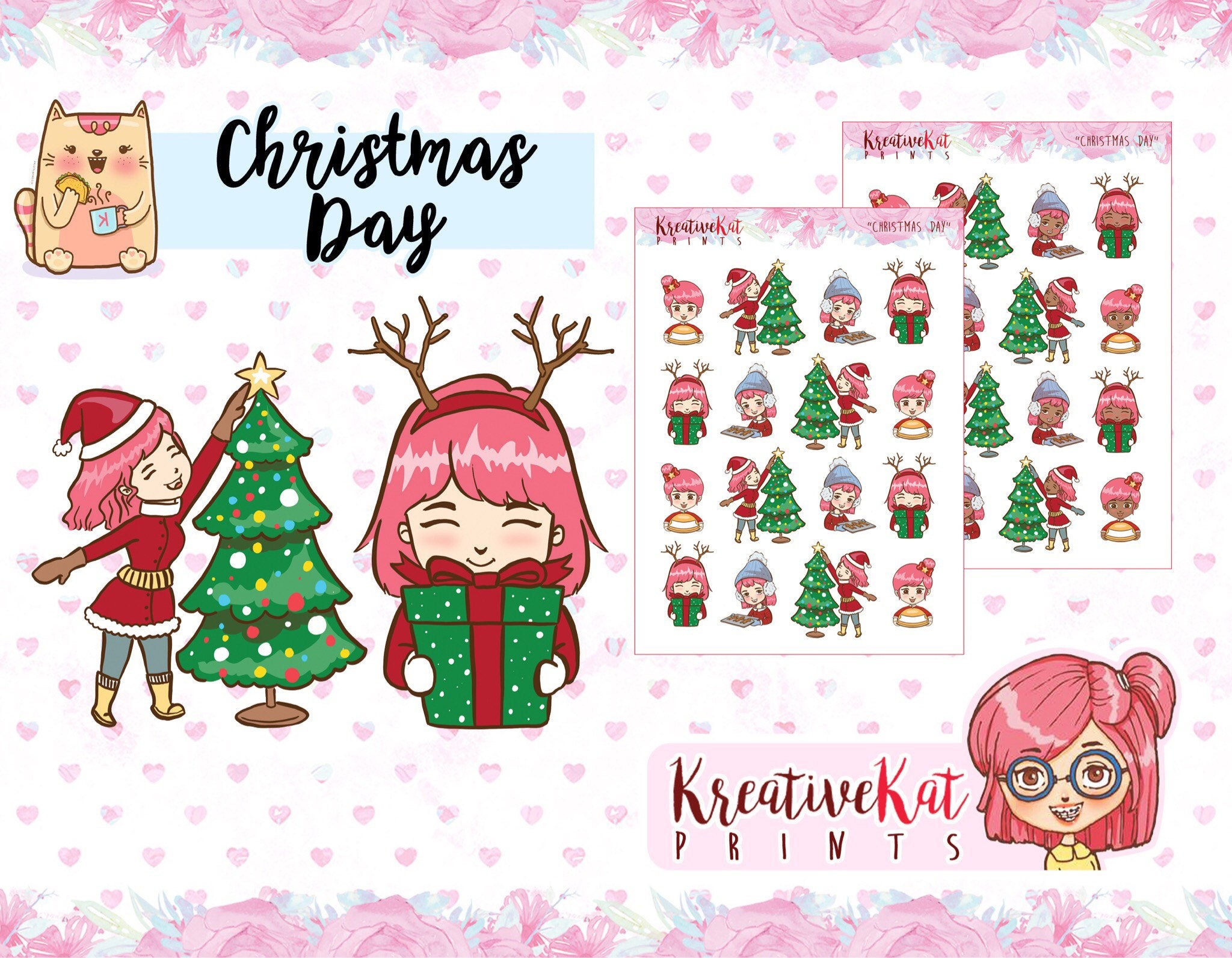 Christmas Day Planner Stickers Holiday December | Etsy