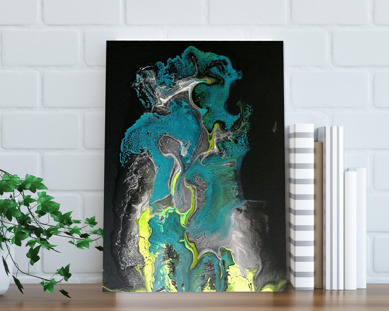 peinture originale peinture sur toile art mural acrylique etsy. Black Bedroom Furniture Sets. Home Design Ideas