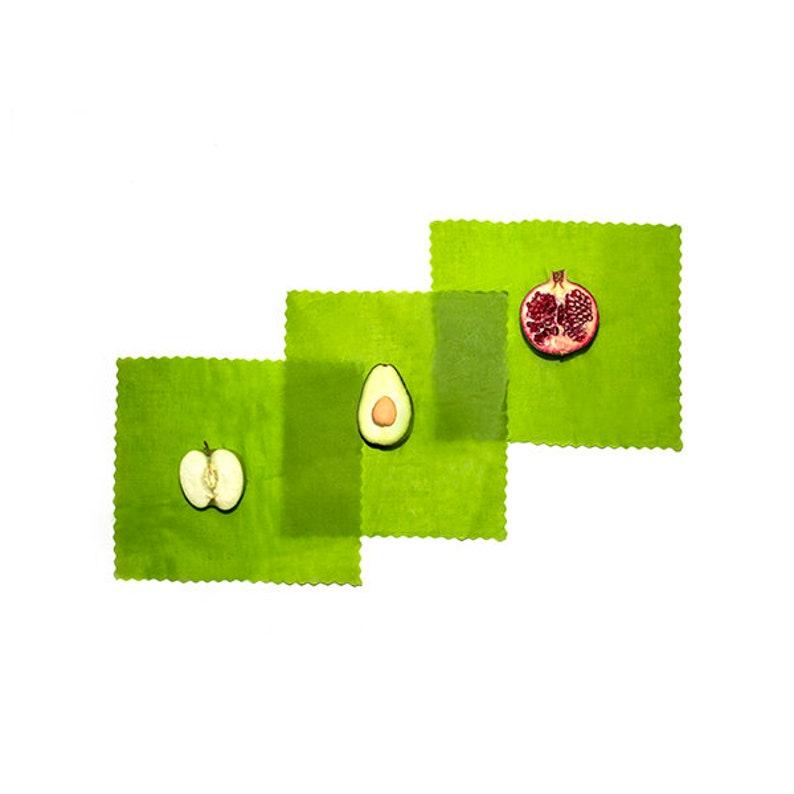 3 Medium Reusable ETEE™ Food Wraps | Biodegradable | Plastic Free | Plastic  Wrap Alternative | Free Shipping in North America