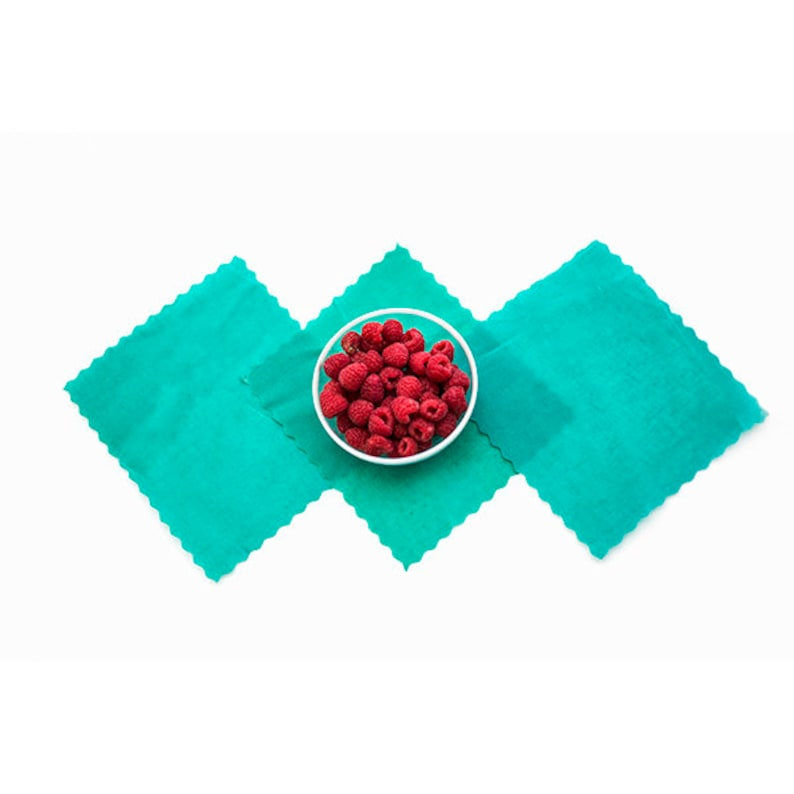 3 Small Reusable ETEE™ Food Wraps   Biodegradable   Plastic Free   Plastic  Wrap Alternative   Free Shipping in North America
