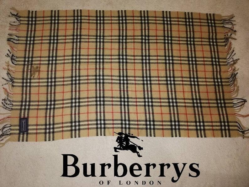 a359cf48b8361 Vintage Cashmere Burberry s Scarf   Nova Check scarfs