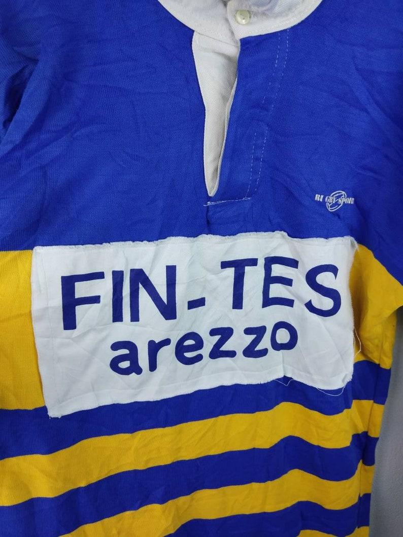 30cafa04e97 Vintage Italian Rugby Club Sportswear / rugby shirt / Yellow | Etsy