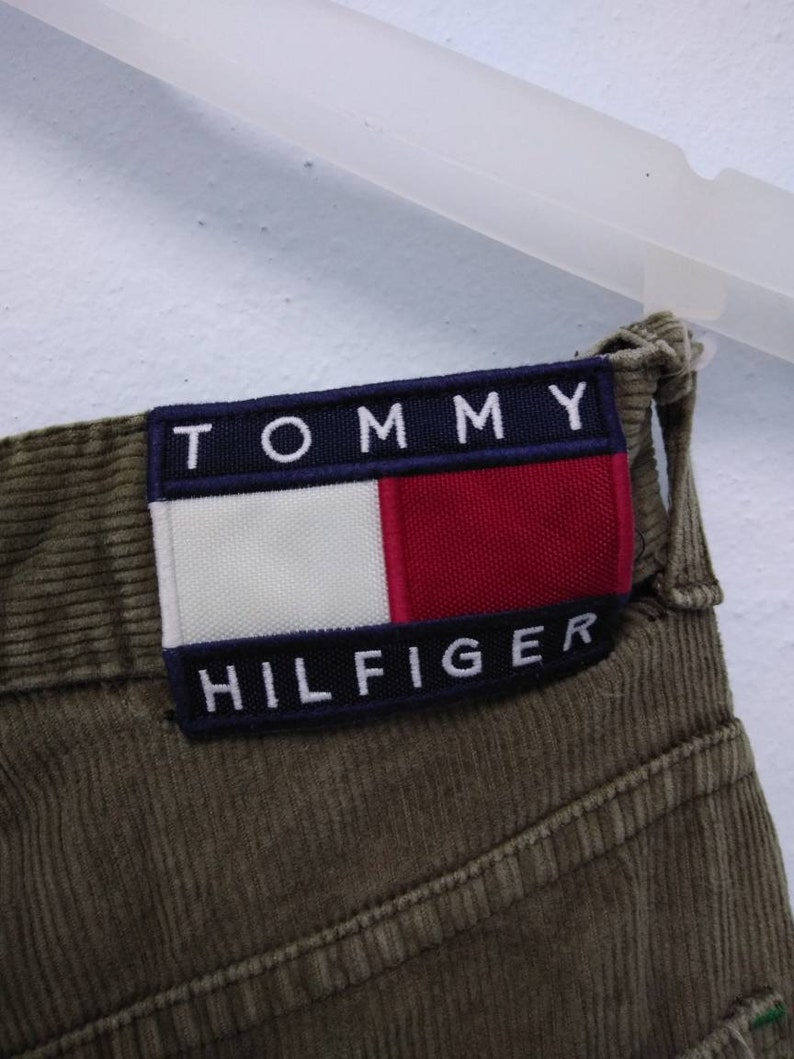 e0c5688e227e2 Vintage Tommy Hilfiger corduroy pant / Medium / Classic Olive   Etsy