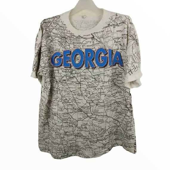 Vintage Georgia state map full print t shirt / che
