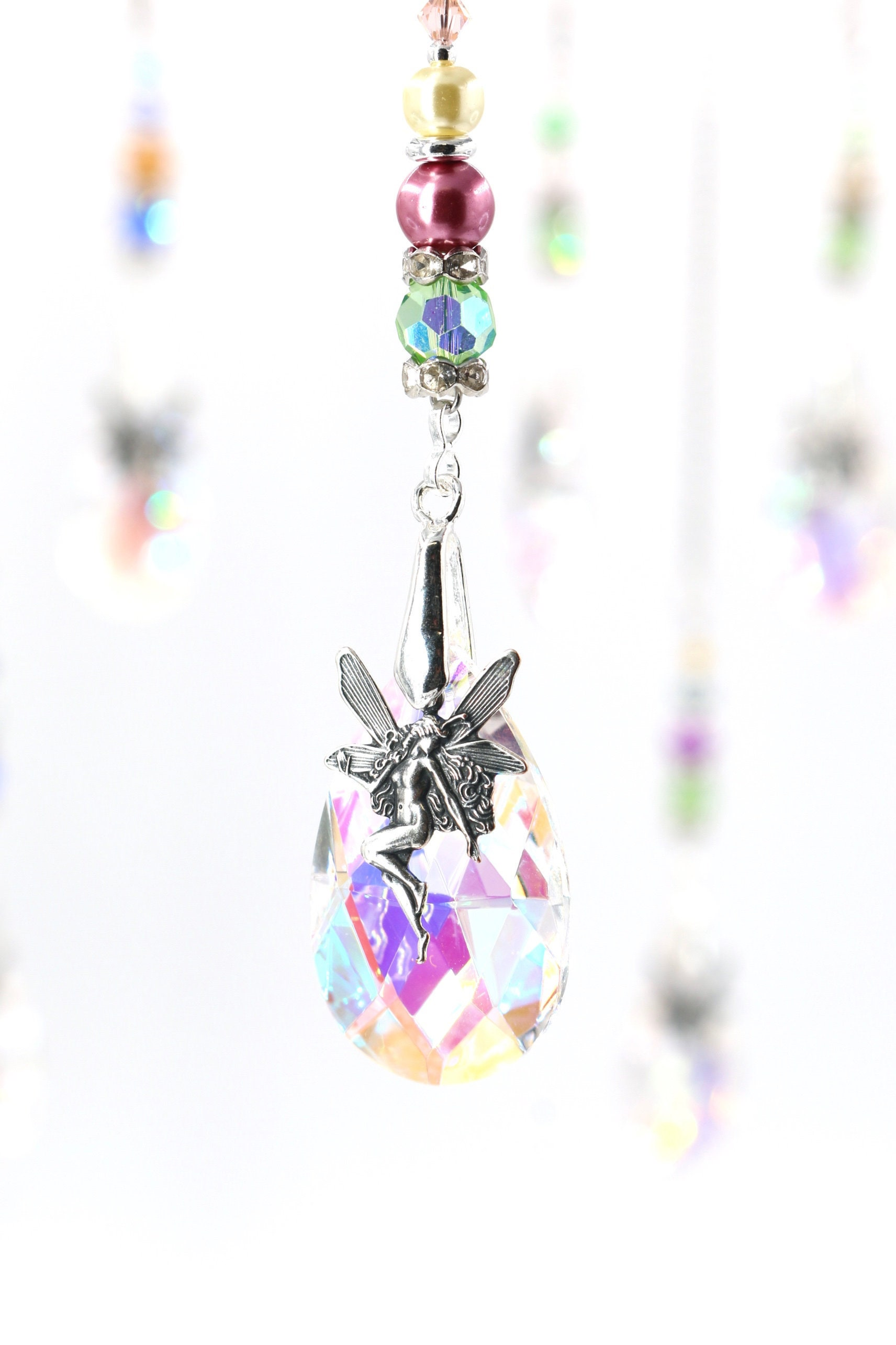 76mm Asfour Crystal Teardrop Suncatcher Crystal Prisms Great for Easy Hanging