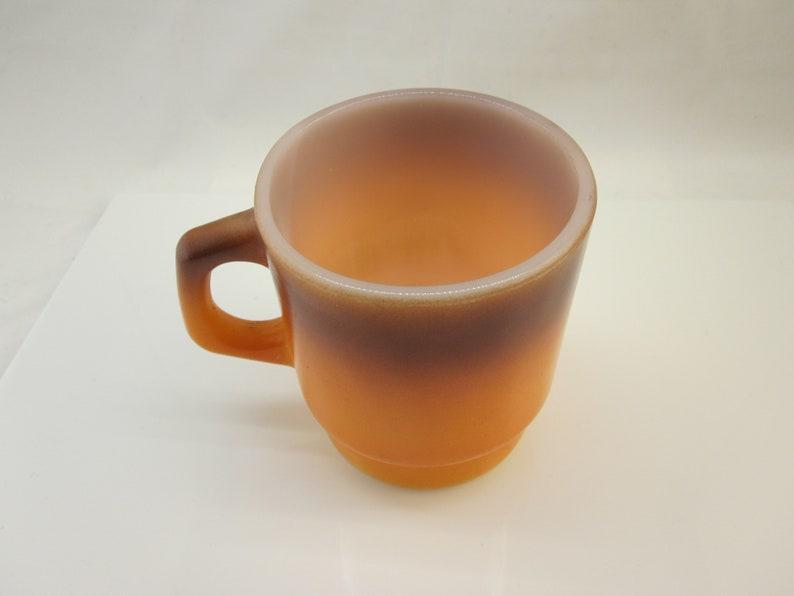 Fire-King Coffee Mug Orange Vintage Fire King / Anchor Hocking / Stacking  mug / Kitchen Collectible