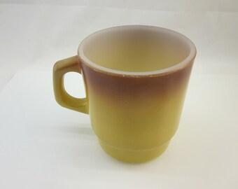 Fire-King Coffee Mug Brown Vintage Fire King / Anchor Hocking / Stacking mug / Kitchen Collectible