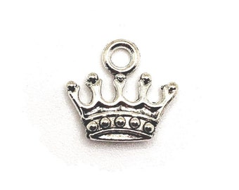 925 Sterling Silver Crown Charm Cut Out Crown Pendant Open Crown Charms for DIY Necklace Making ID 36307
