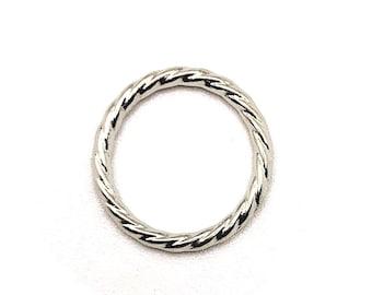 Twinkle Twist Circle Pendant  Charm  Jewelry Making  Matte Rhodium Plated Brass  2pcs  1-mo1