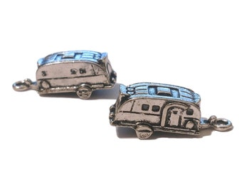 4 Camping Trailer Charms | Camping Charm | Travel Trailer Charm | Happy Camper | Trailer Charm | Ready to Ship USA | AS224-4