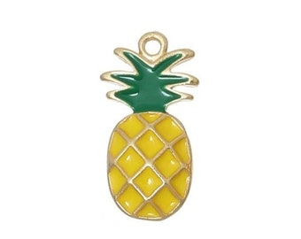 US Seller 4 AS113 20 or 50 BULK pcs Silver Pineapple Double Sided Charms