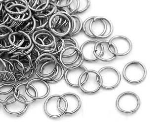 100 or 1,000 BULK pcs 6mm Antique Silver Open Jump Ring US Seller AS044