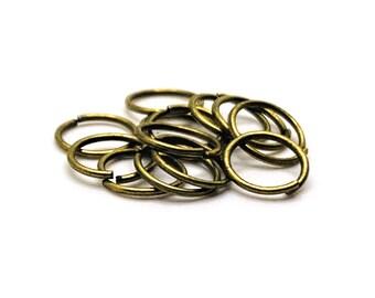 6mm 18gauge 200pc BRASS Antique Bronze Open Jump Rings Finding Earrings Necklace