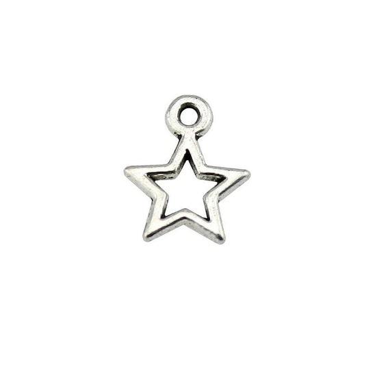 4 US Seller EN272 20 or 50 BULK pcs USA American Flag Star Charms
