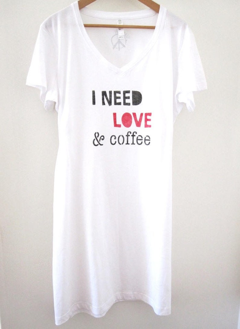 1ef46ed0c4d7 Tee Shirt Dress Coffee Tshirt Coffee Shirt Sleep Shirt