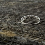 Two Sterling Silver Mountain Water Rings