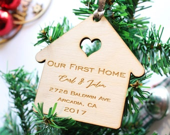 Our First Home Christmas Ornament Custom New