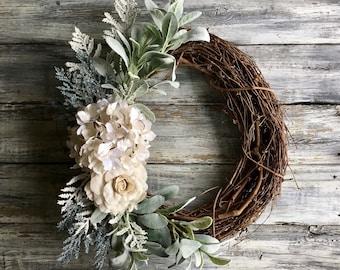 Spring Wreath, Spring Front Door Wreath ,Summer Wreath,Easter Wreath, Farmhouse Wreath,Easter Decor,Farmhouse Decor,Wreath,Home Decor,Wreath