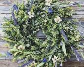 Spring Wreath,Spring Decor, Summer Wreath, Summer Wreath, Farmhouse Wreath, Farmhouse Decor,Front Door Wreath,Lambs Ear Wreath,Home Decor