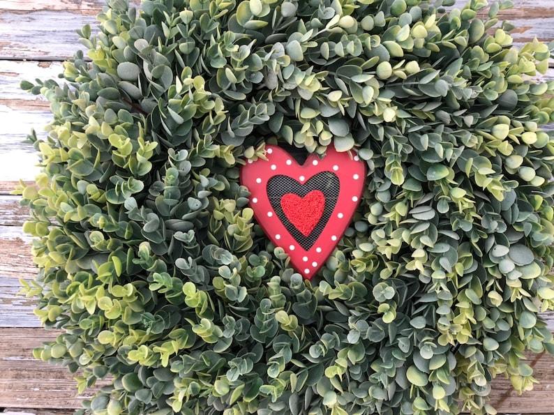 Rustic Wreath Spring Wreath,Spring Decor,Front Door Wreath,Valentines Day Gift Valentines Wreath,Farmhouse Wreath,Farmhouse Decor
