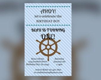 AHOY! Nautical Birthday (DIGITAL)