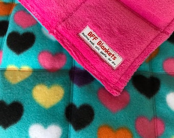 Heart Patterned Fleece Lap Weight