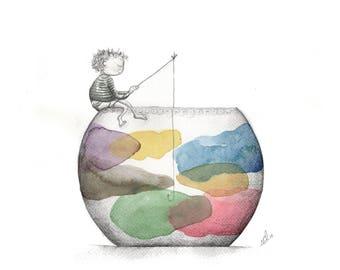 Print colors, colours, clouds, cloud, child, kids, children, multicolor