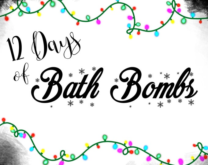Featured listing image: Preorder - 12 Days of Bath Bombs Advent Calendar with Exclusive Sticker 2019 - Christmas Movie Inspired Set - Free Shipping USA