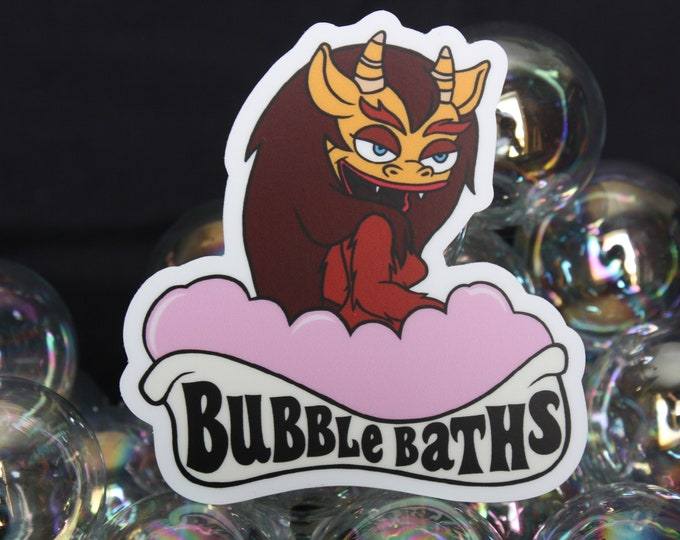 Featured listing image: Connie the Hormone Monstress Bubble Bath Sticker