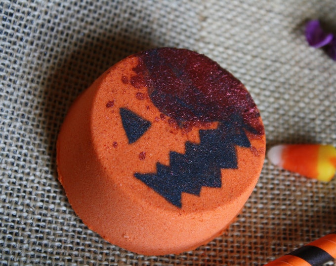 Featured listing image: Never Blow Out a Jack-o'-Lantern Bath Bomb