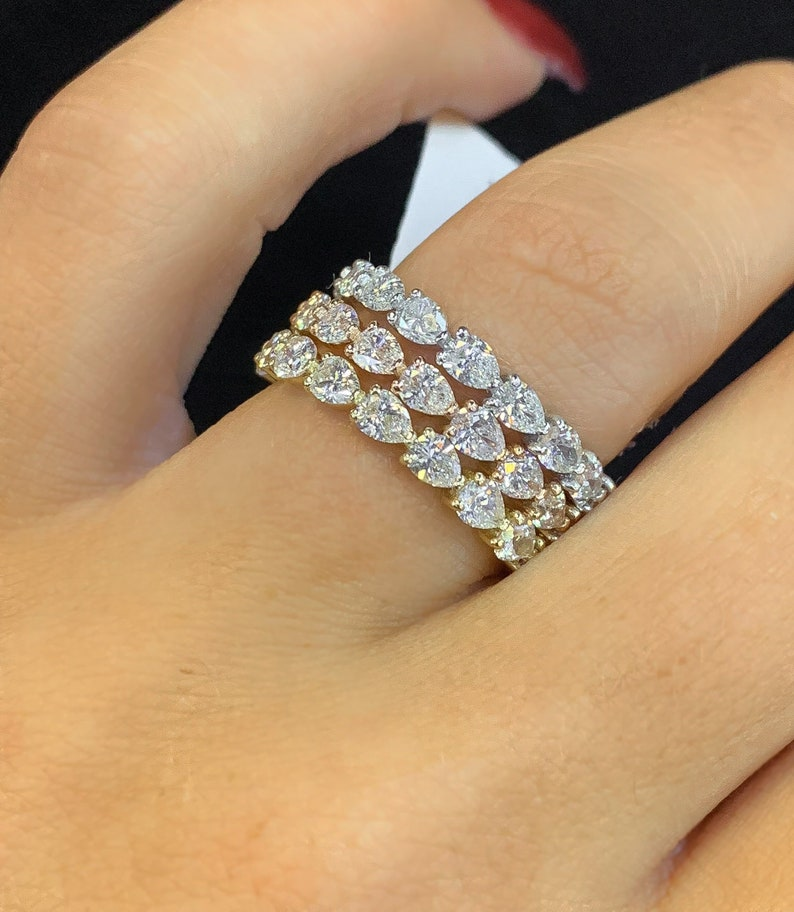 8e8c5d148943 Pear-Shape Diamond Eternity Band Available in 14kt White