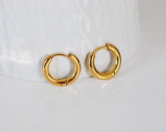 creative supplies 16mm gold jewelry Minimalist gold steel creoles jewelry creation buckles,no nickel,pair,steel curls