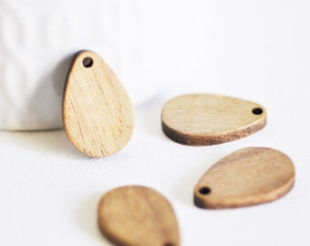 21mm Red Round Wood Bead #WOOD018 4 Pcs