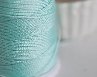 Aqua Green metallic thread 0.8mm - 1 meter
